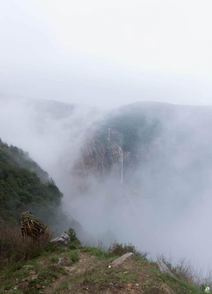 cherapunjee waterfalls in monsoons