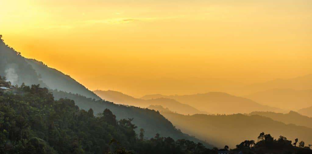 sunsets Longwa village Nagland