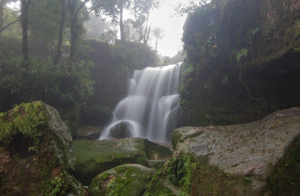 Garden of Caves waterfall Cherrapunjee