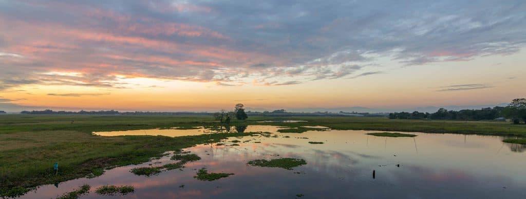 Sunset at Majuli Islands