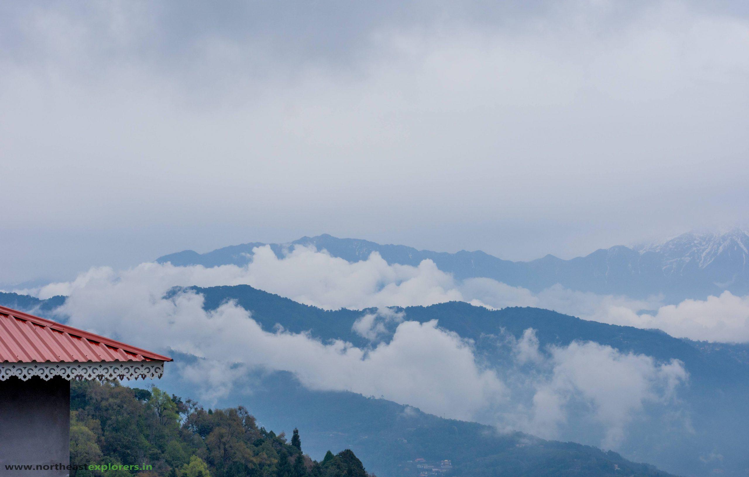 view from rumtek monastery