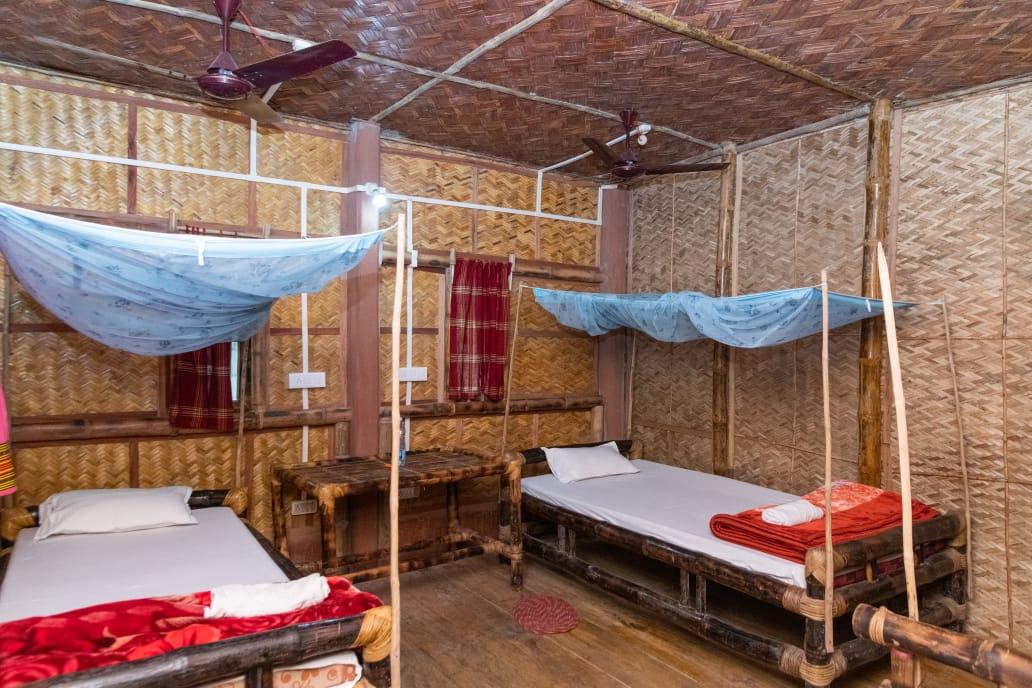 Majuli bamboo cottages